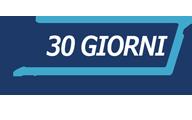30 giorni di garanzia soddisfatti o rimborsati