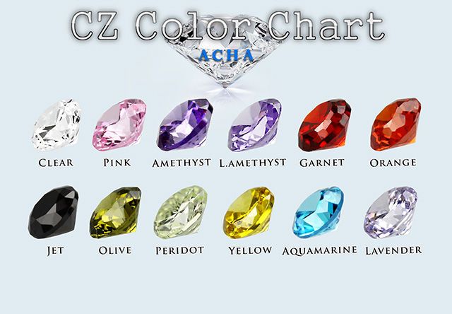 Achadirect CZ Color Chart