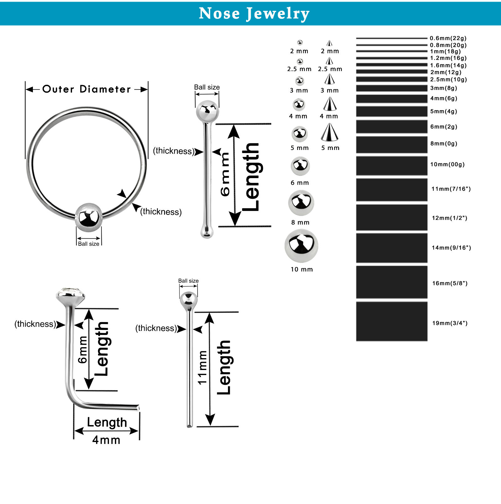 Body Jewelry Measures